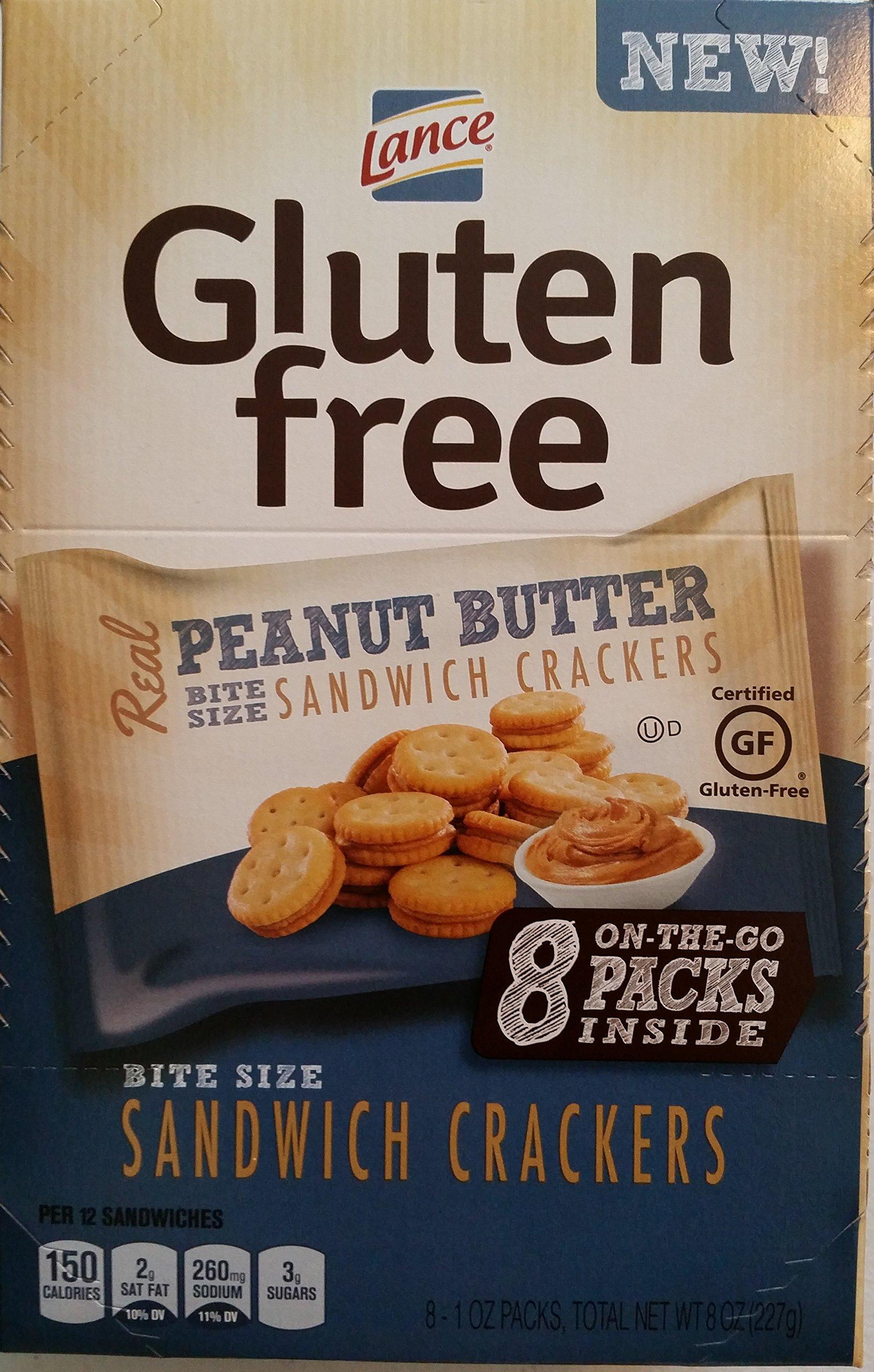 Lance Gluten Free Peanut Butter Sandwich Crackers, 8 Count of 1 Oz. Bags