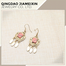 cheap fashion black colour in the red stone earrings from china