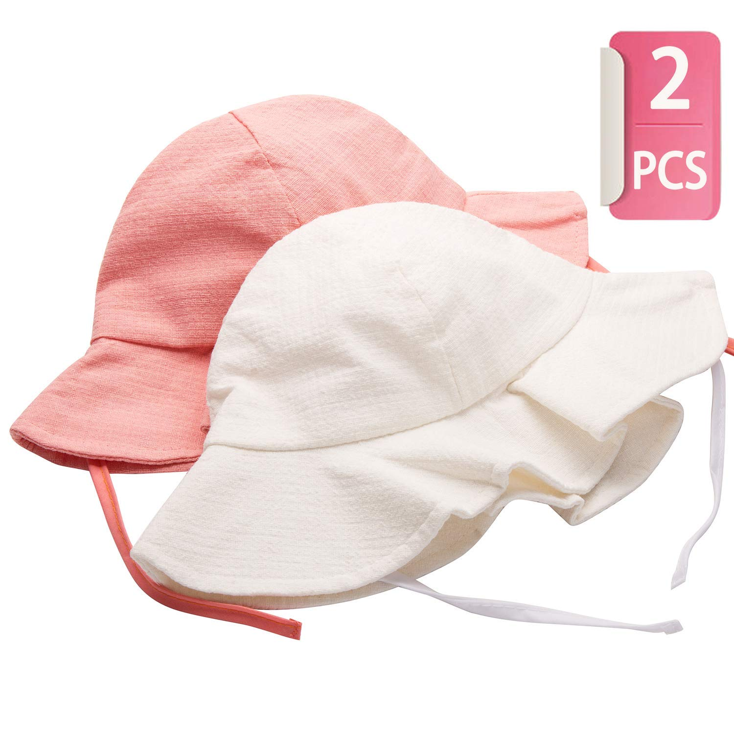 Get Quotations · Kids Sun Hat for Baby Toddler UPF 50+ UV Ray Sun  Protection Wide Brim Sun 9374f67fb1ae