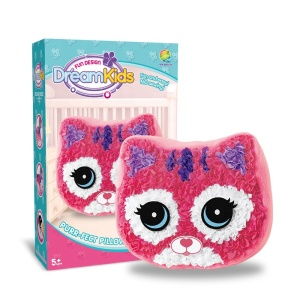 lovely pink big eyes cat DIY pillow kids craft kits wholesale