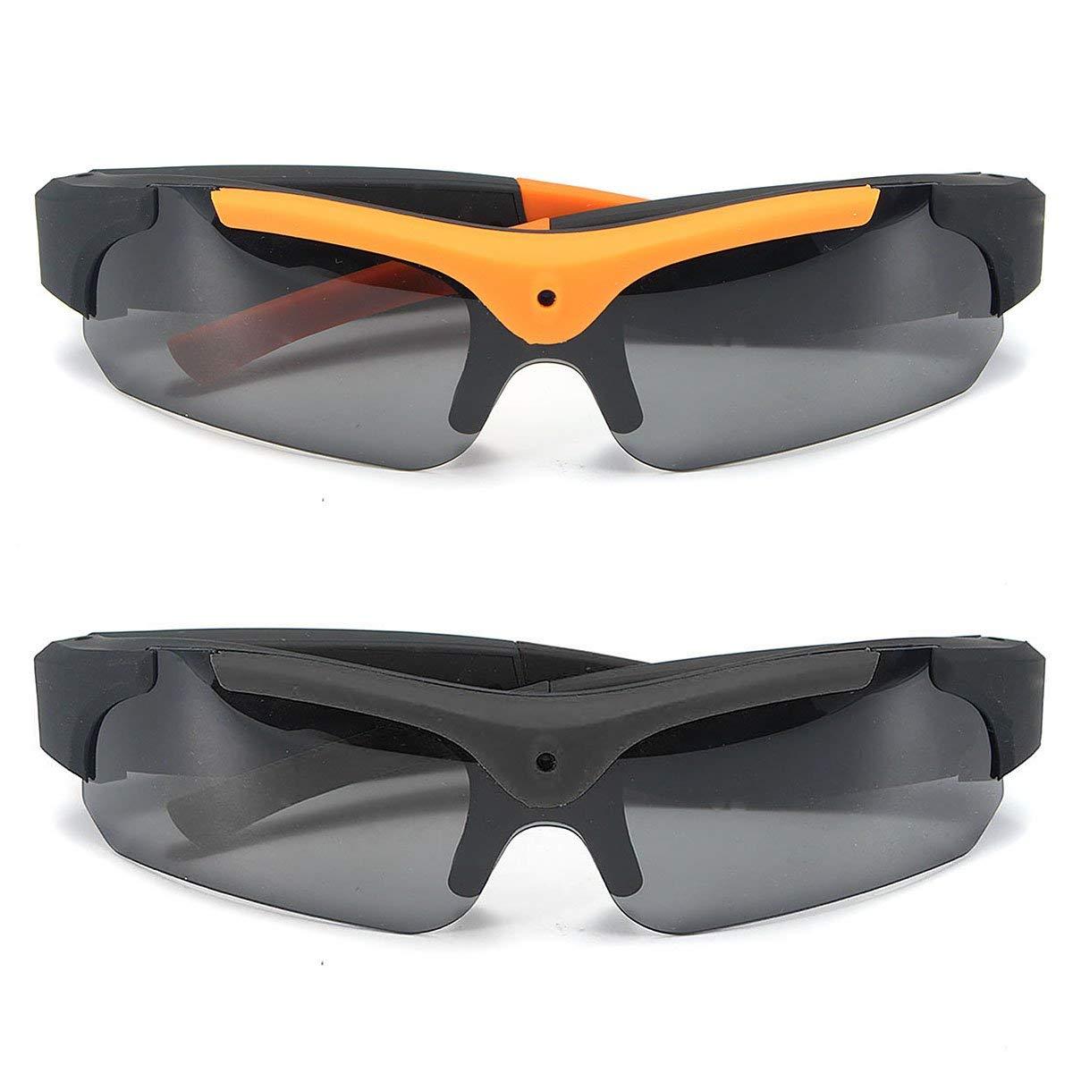 3ca67a9989 Get Quotations · Full HD 1080P Camera Glasses Hidden Eyewear DVR Video  Recorder Sunglasses Support TF Card Record