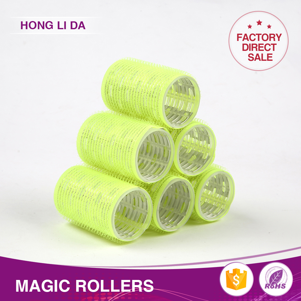 Wholesale plastic mesh memory foam hair rollers perm rods