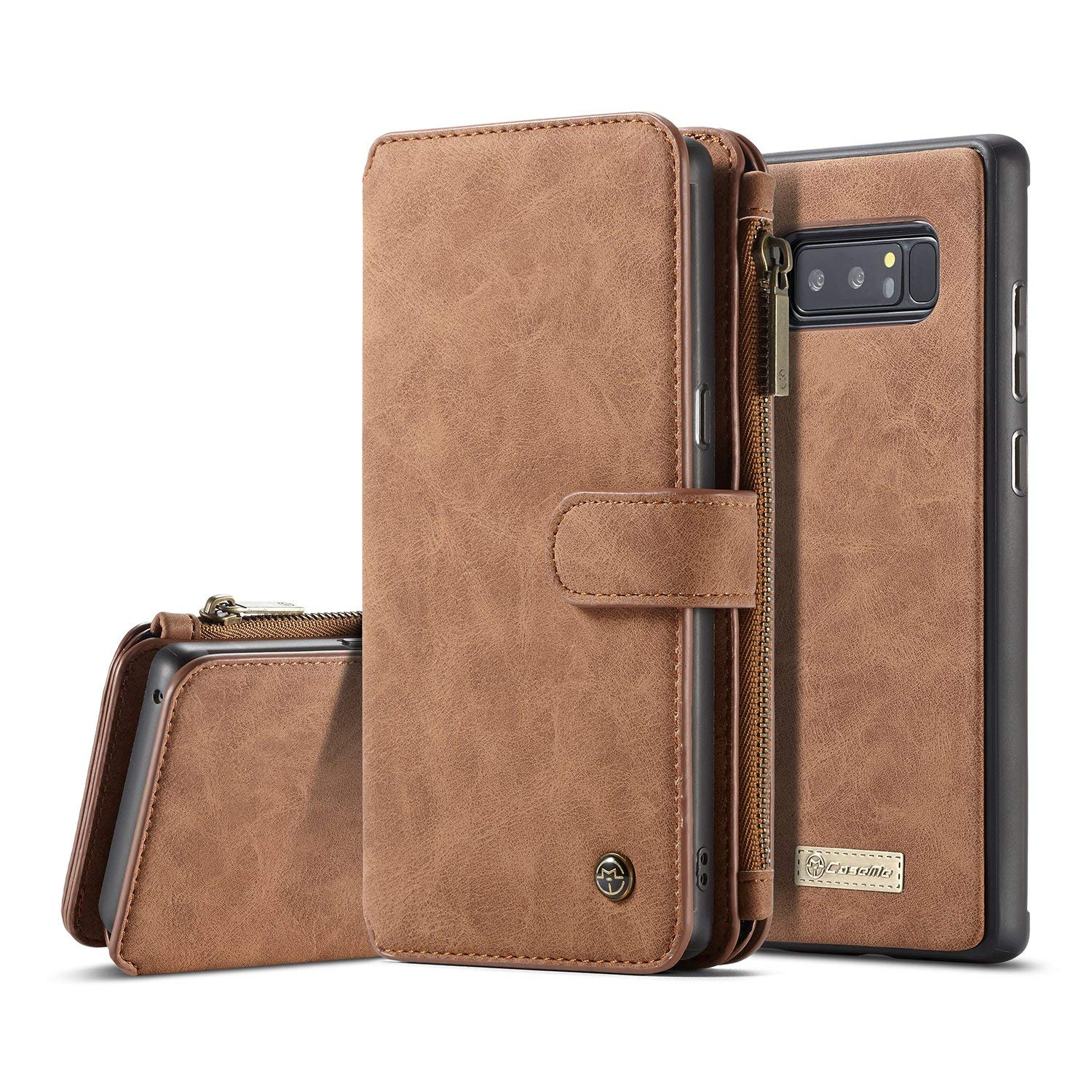 4a263aa06c6 Get Quotations · XRPow Galaxy Note 8 Magnetic Detachable Wallet Case  Premium Back Cover Slim Leather Folio Wallet Holder