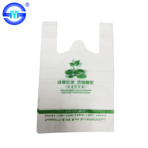 Newest Plastic Handles Bags Biodegradable Plastic Carry Bag