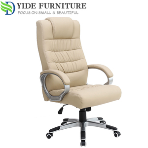 Black Korea leather heated office chair swivel chair parts