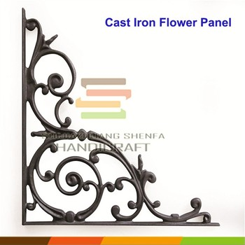 Cast Iron Decorative 90 Degree Angle Corner Bracket