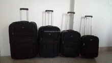 cheap factory closeout 4pcs trolley luggage set stock suitcase