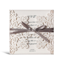 Wishmade Personalised Wedding Invitation Card with Ribbon doc Arabic Greetings Cards