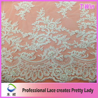 2012 New design pearls wedding lace for bridal dress wedding material