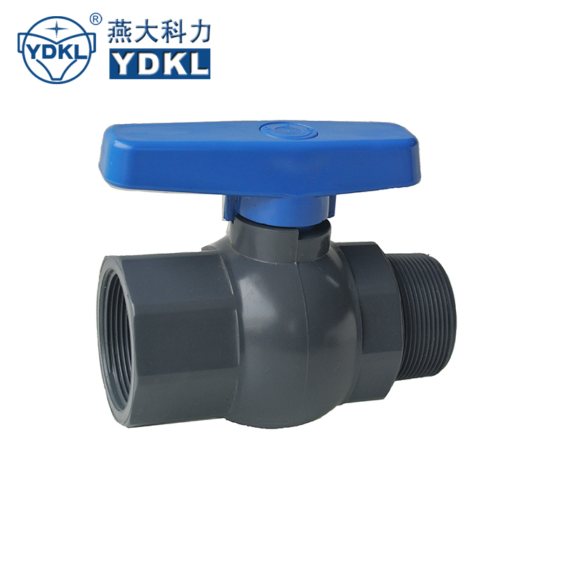 PVC male and female Ball Valve 25mm to 63mm