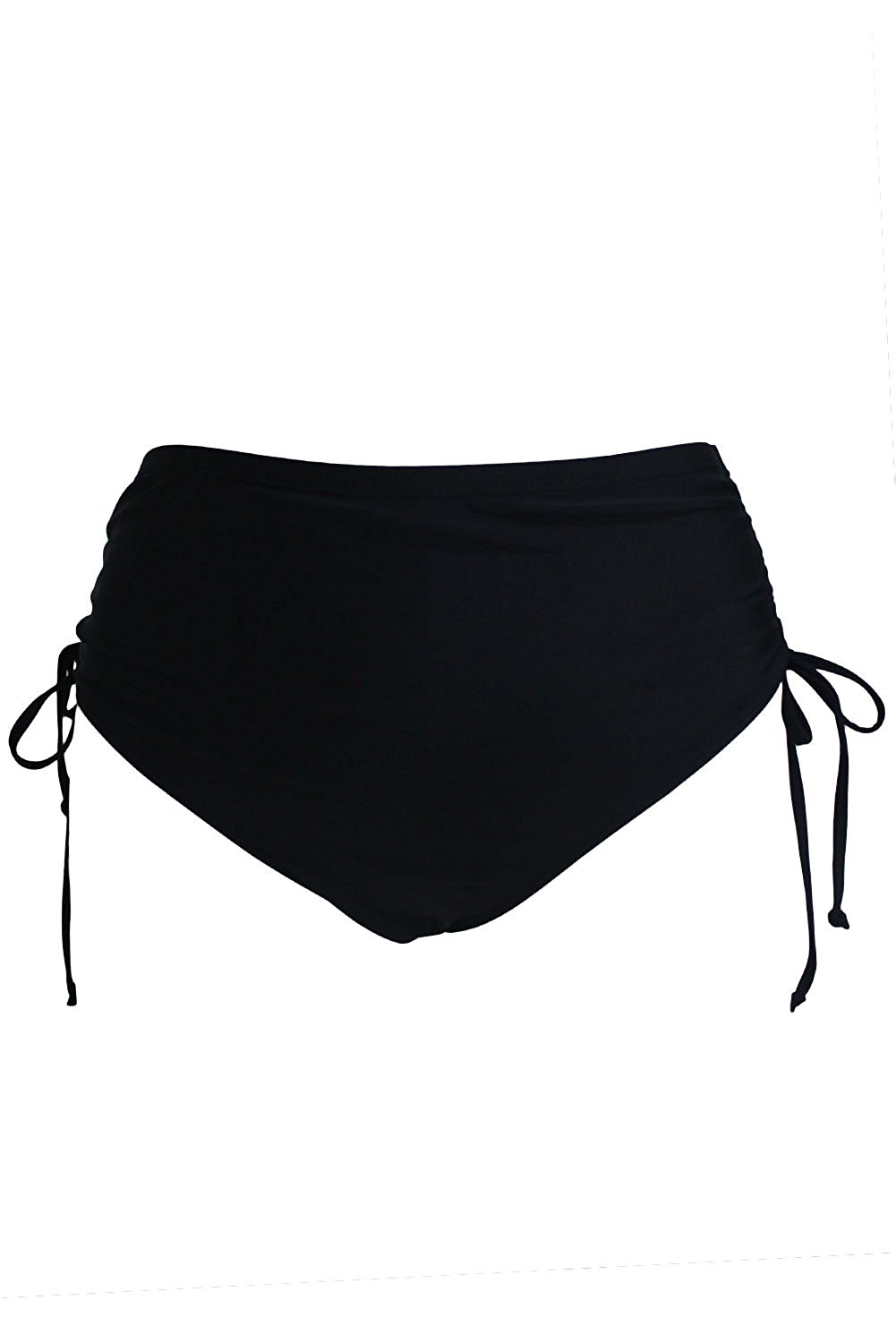 b987c9503c Get Quotations · Prime Leader Black High Waist Side Ruched Swim Bottoms For  Women