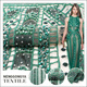 Latest design luxury mesh embroidery green hand crystal beaded bridal fabric