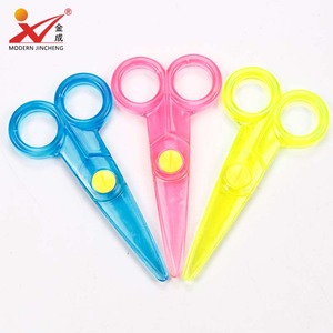 Hot sale plastic safety children scissors with smartcut