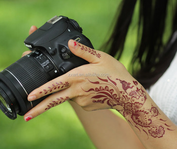 India Henna Style Hand Leg Neck Arm Burnt Henna Temporary Tattoo