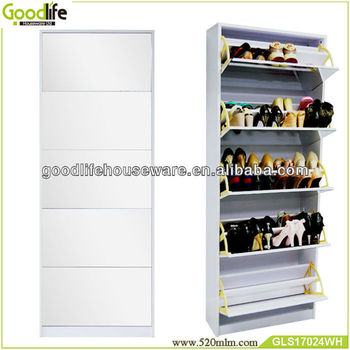 cheap wooden shoe racks with full length mirror