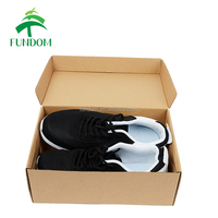 chinese supplier custom printing flat folding empty brown corrugated gym sneakers paper shoe box