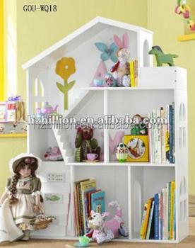 diy houten kinderen pop en speelgoed huis poppenhuis boekenkast
