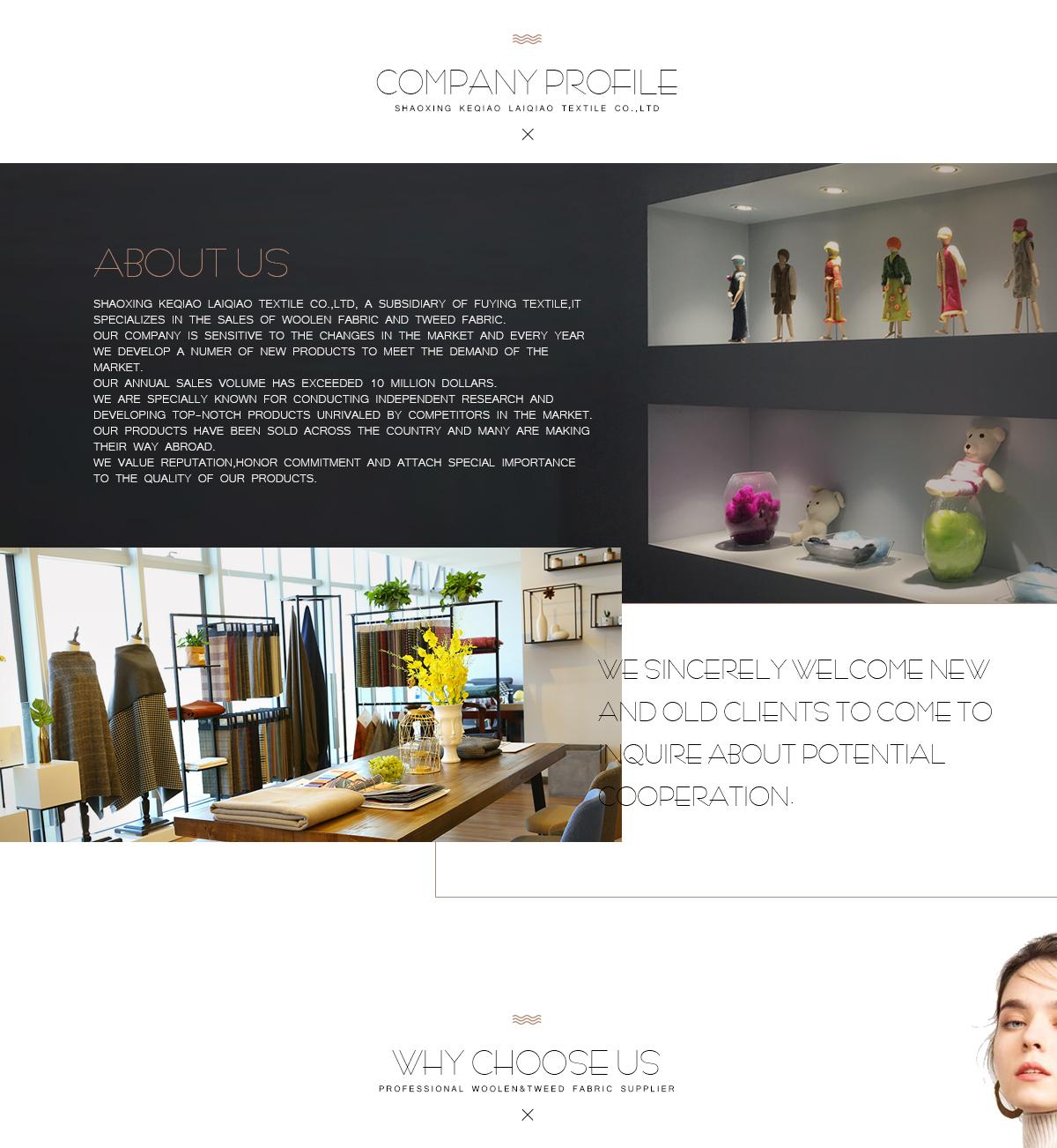Shaoxing Keqiao Laiqiao Textile Co , Ltd  - wool fabric