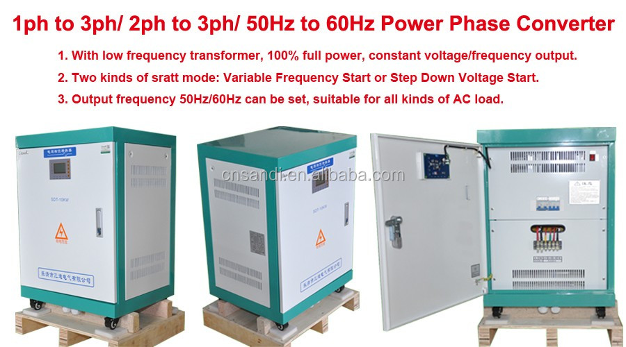 10000w single phase 220v to 3 phase 4 wires 380v 50hz for How to convert 3 phase motor to single phase 220v