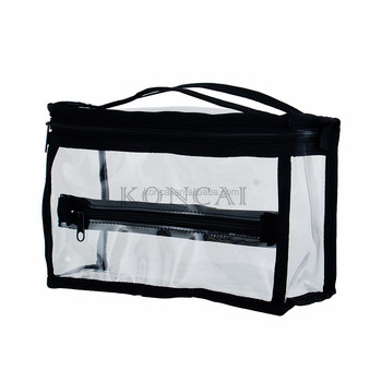 ffaaf6d704a2 Mini transparent PVC brush holder cosmetics convenience PVC beach bag with  zipper