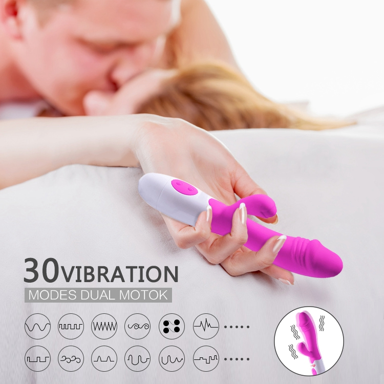 New Products Purple Silicone Rabbit G-Spot Pussy Massaging <strong>Vibrator</strong> For Female