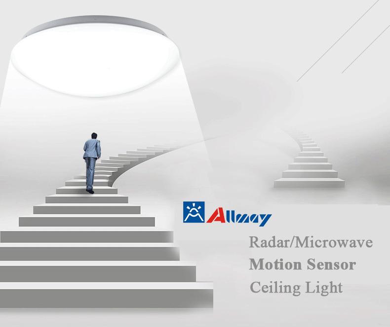 Ceiling Light With Built In Motion Sensor : High lumen radar motion microwave sensor led ceiling