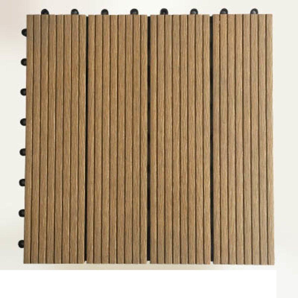 Diy wood flooring/outdoor,terrace,garden,wood flooring/balcony plastic wood flooring/diy wood flooring-B 30x30cm(12x12inch)