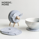 Table decoration coaster Non-slip Wooden Sheep drink Coasters Insulating Felt Table mat Cup coaster Set