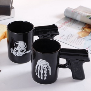 3D Gun Handle Mug Pistol Office Ceramic Coffee Milk Tea Mugs And Cups Unique Gift Idea For Halloween