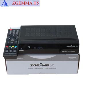 Combo Satellite TV Decoder DVB-S2+ hybrid DVB-T2/C Combo Tuners ZGEMMA H5 with H.265 and HEVC