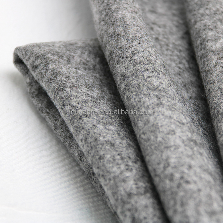 Prompt delivery gray acrylic wool woolen knitted fabric