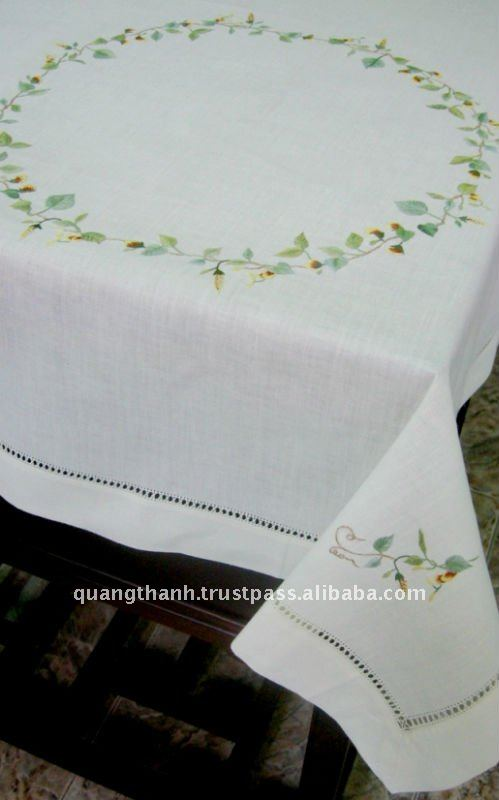 Hand Embroidery Table Cloth