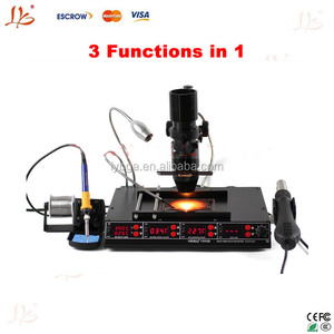 3 Functions in 1 Infrared Bga Rework Station SMD Hot Air Gun+75W Soldering Irons+540W Preheating Station