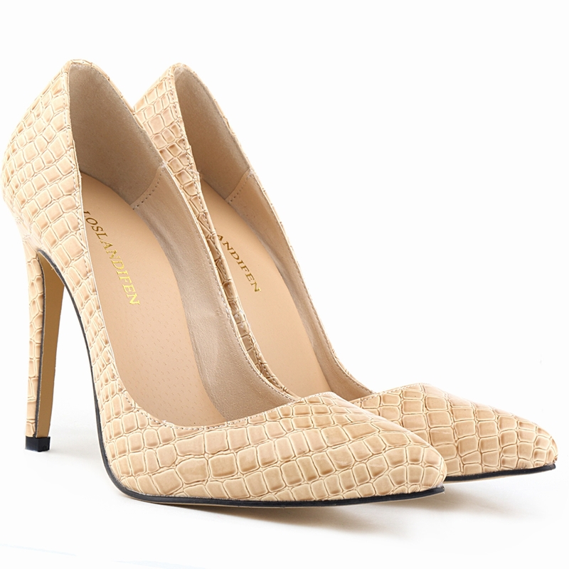 5cfd98b13c1 Get Quotations · Brand New Ladies Crocodile Grain pattern High Heels  Stilettos Platform Shoes Size UK 2-9