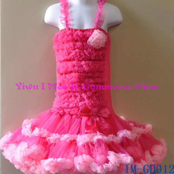 Newest Kids Pink And Hot Pink Fluffy Pettiskirt Princess Party ...