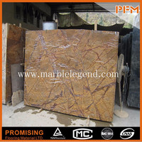 wholesale well polished best quality nature Indian Tropical Rain Forest Brown Yellow Marble floor tiles