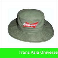 Custom Embroidered plain white cotton bucket hat