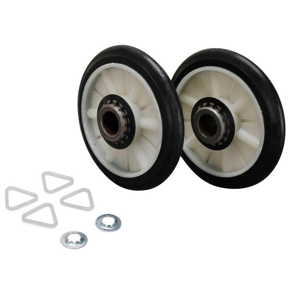 Compatible Rear Drum Support Roller Kit for LER4624BQ1, Kenmore / Sears 1107217622, Maytag AED4675YQ1, LER7646JQ0 Dryer