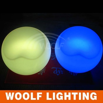 Cheap LED Glowing Big Round White Plastic Outdoor Chairs