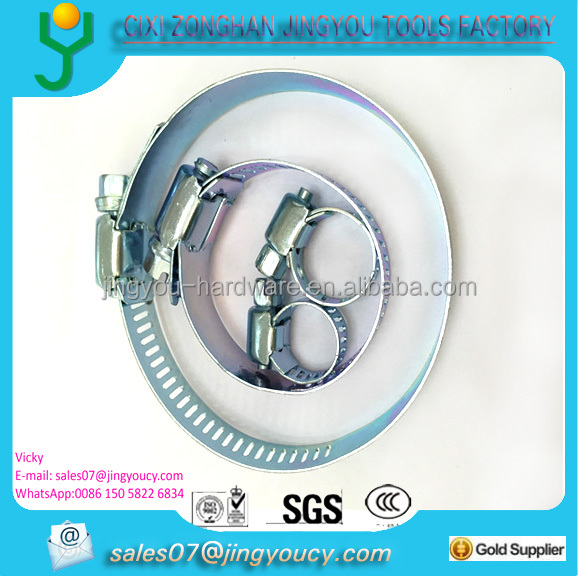 "12.7mm width 57mm 2"" high-torgue 8mm screw clamp jubilee China JINGYOU FACTORY"