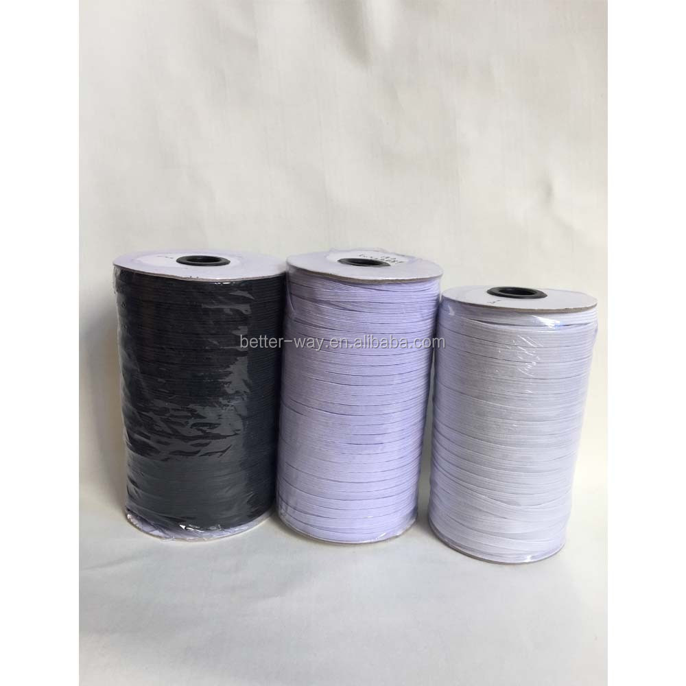 Factory custom Import Rubber knited flat elastic cord