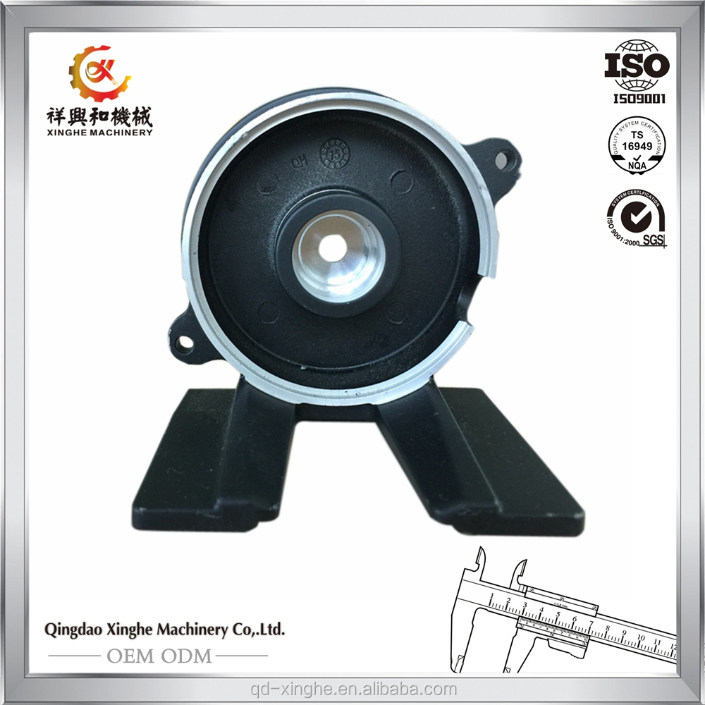 OEM products ZA-27 zinc die casting china with black powder coating
