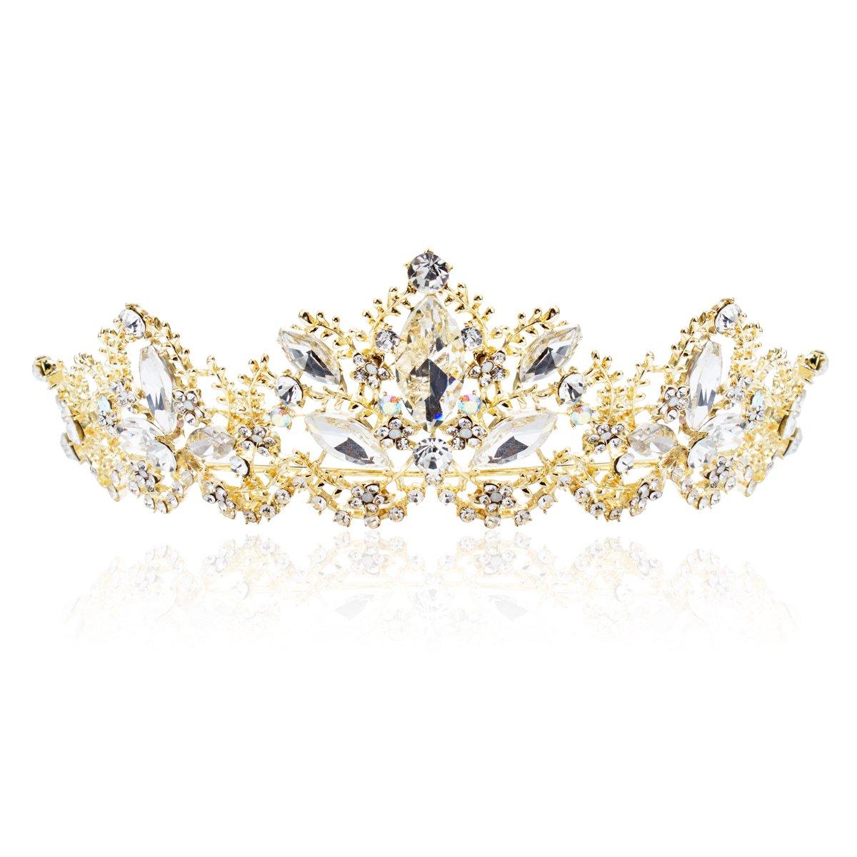 ANBALA Tiara Crowns, Rhinestone Crystal Queen Tiara Headband Wedding Pageant Crowns Princess Crown for Women