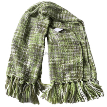 Hot selling soft knitting wool fringed throw blanket