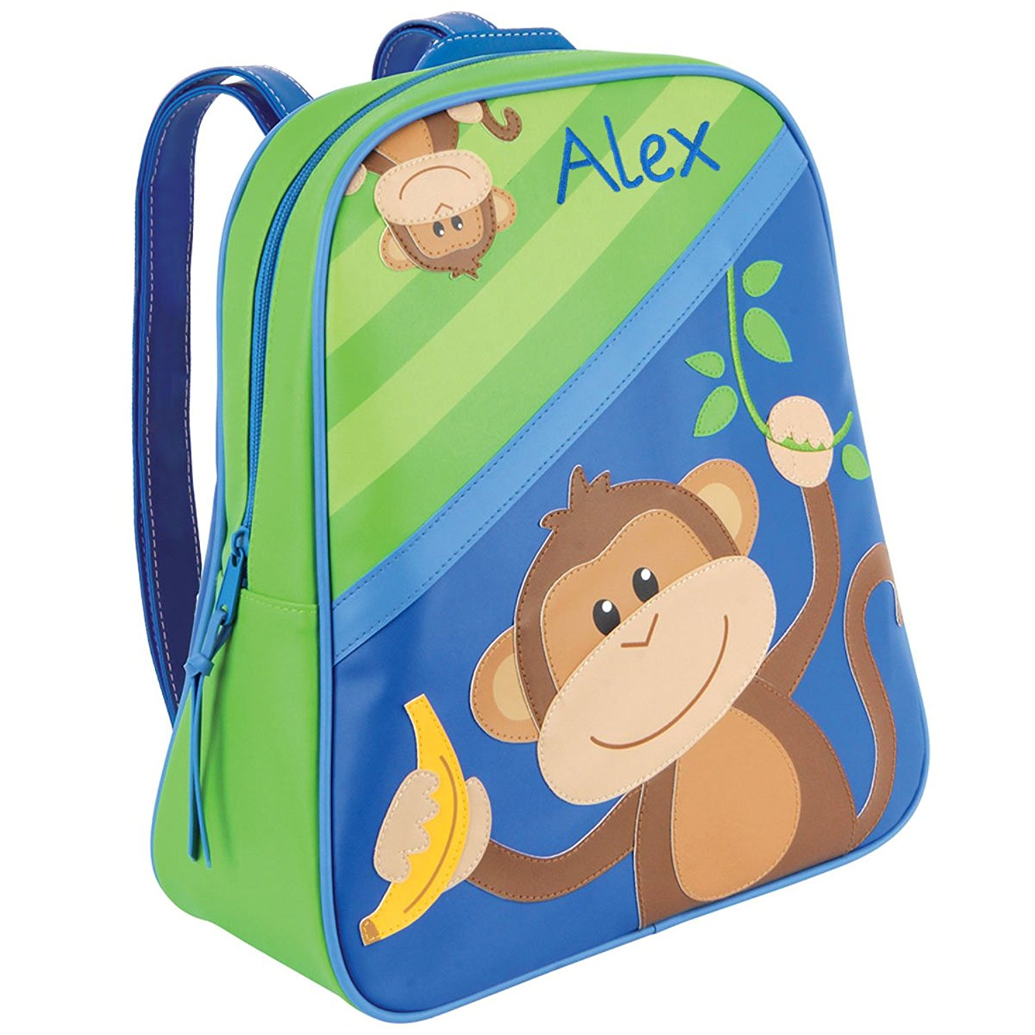 cab396ff82cd Personalized Stephen Joseph Go Go Boy Monkey Backpack with Embroidered Name