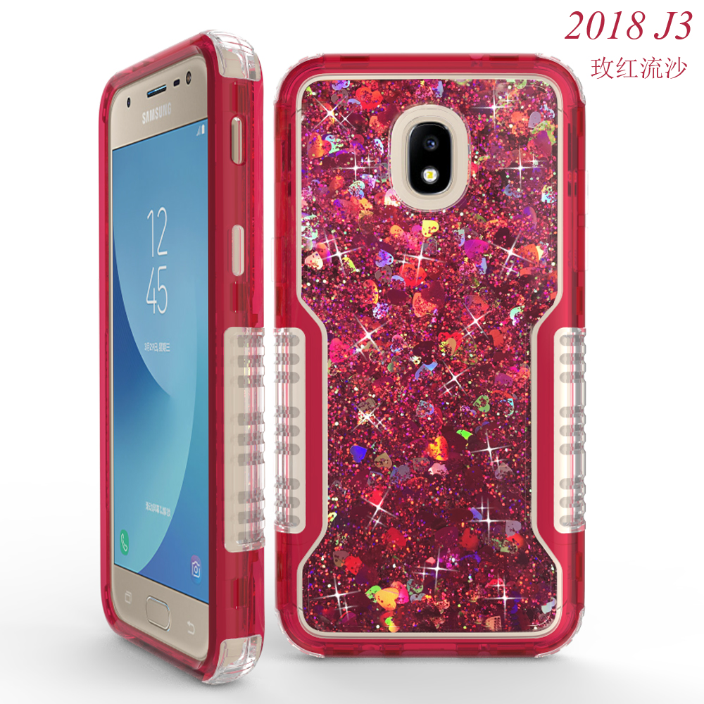 Funda para telefono movil y accesorios Funda para telefono Diamond Bling Defender para For Samsung Galaxy J7 2018