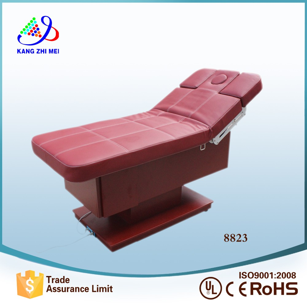 wood beauty spa and facial furniture massage beauty bed