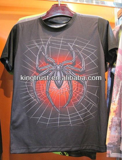 custom design spider printed t-shirts