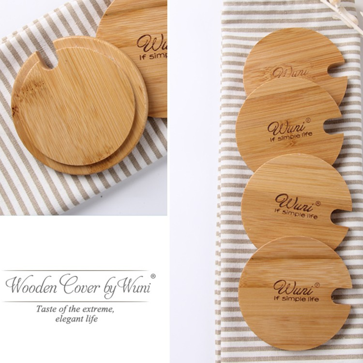 2018 hot sale new cup lid corver bamboo lids wooden lids