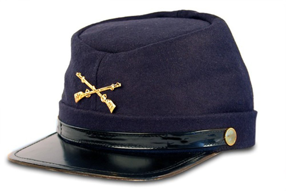 6a810d21f80 Get Quotations · Civil War Kepi Union Army Wool Hat Blue Lined US North ( Hats size 57 cm